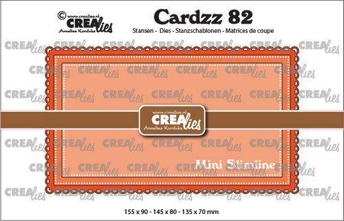 Crealies Cardzz no 82 Mini Slimline B CLCZ82 155x90mm (09-21)