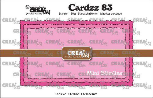 Crealies Cardzz no 83 Mini Slimline C ruwe randen CLCZ83 157x92mm (09-21)