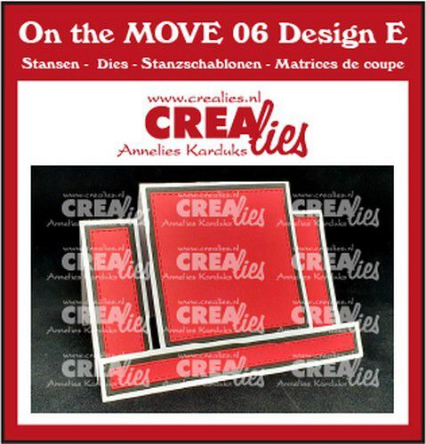 Crealies On The MOVE Mix Center Step Card with square CLMOVE06 10,5x14,5cm (09-21)