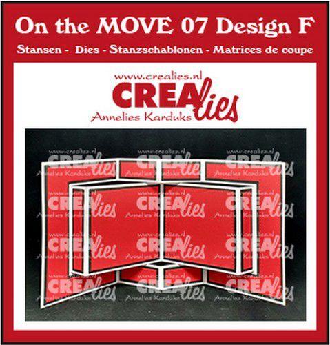 Crealies On The MOVE Mix Boekkaart CLMOVE07 13,5x27cm (09-21)