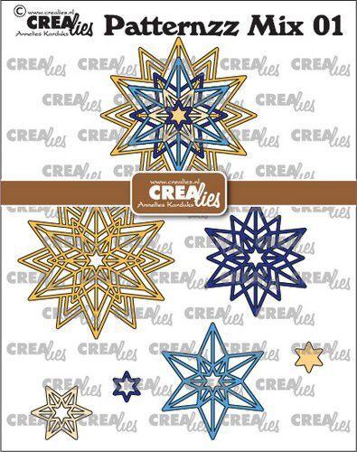 Crealies Patternzz Mix Rozet Starlight CLPATMix01 66x66mm (09-21)