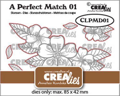 Crealies A perfect match Dies Mix Bloemen boeket A CLPMD01 85x42mm (09-21)