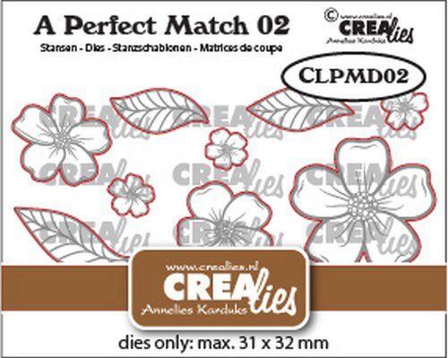 Crealies A perfect match Dies Mix Bloemen A CLPMD02 31x32mm (09-21)