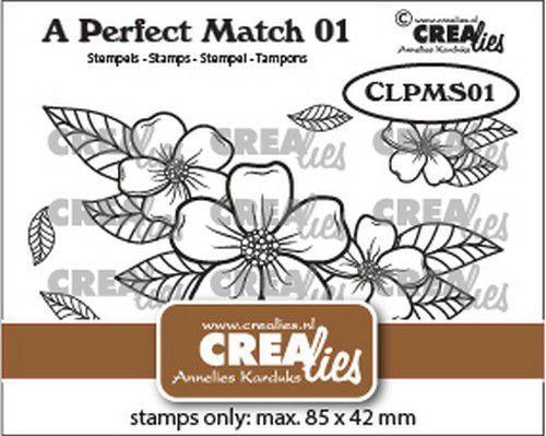 Crealies A perfect match stamps Bloemen boeket A CLPMS01 85x42mm (09-21)