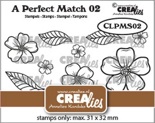 Crealies A perfect match stamps Bloemen A CLPMS02 31x32mm (09-21)