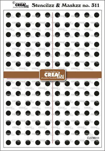 Crealies Stencilzz/Maskzz Cirkeltjes CLSTM311 15x21cm (09-21)