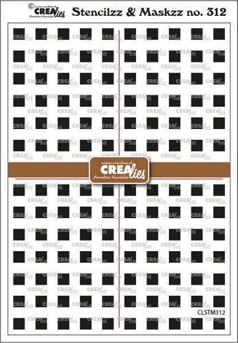 Crealies Stencilzz/Maskzz Vierkantjes CLSTM312 15x21cm (09-21)