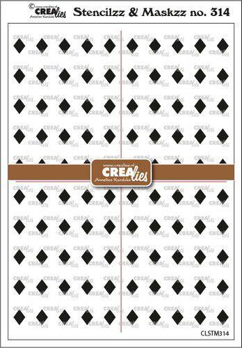 Crealies Stencilzz/Maskzz Wybers CLSTM314 15x21cm (09-21)