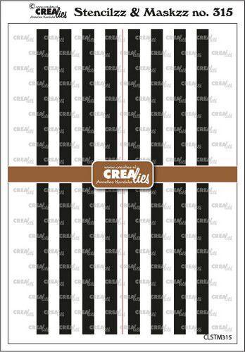 Crealies Stencilzz/Maskzz Lijnen CLSTM315 15x21cm (09-21)