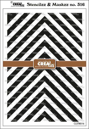 Crealies Stencilzz/Maskzz Hoeken CLSTM316 15x21cm (09-21)