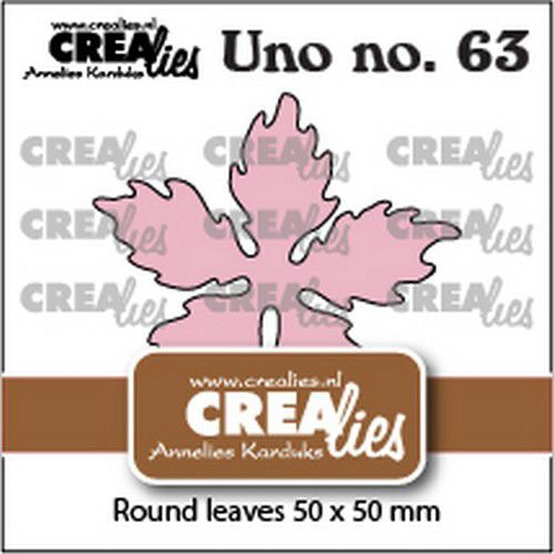 Crealies Uno no. 63 Kerstster ronde bladeren CLUno63 50x50mm (09-21)