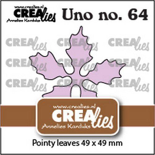 Crealies Uno no. 64 Kerstster puntige bladeren CLUno64 49x49mm (09-21)