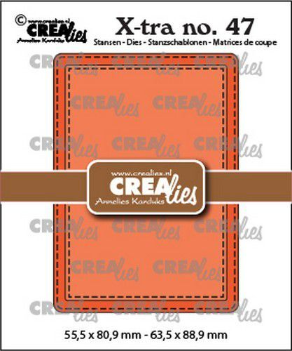 Crealies Xtra no. 47 ATC stiksteeklijn CLXtra47 55,5x80,9mm-63,5x88,9mm (09-21)