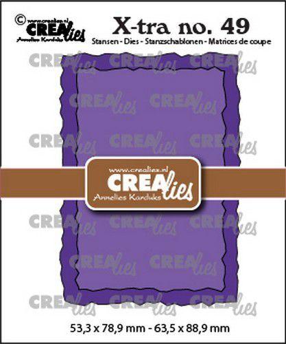 Crealies Xtra no. 49 ATC ruwe randen CLXtra49 53,3x78,9mm-63,5x88,9mm (09-21)