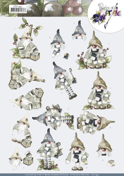 3D Cutting Sheets - Precious Marieke -Christmas Gnomes