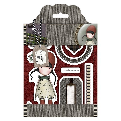Rubber Stamps - Santoro Tweed - Holly