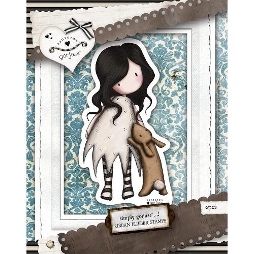 DoCrafts - Rubber Stamps - Santoro - Gorjuss - I Love You Little Rabbit