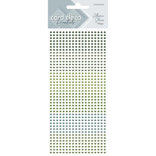 Card Deco Essentials - Adhesive Stones - Green