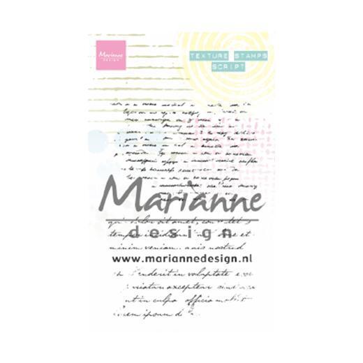 Marianne Design - Clearstamp - Texture Stamp - Script - MM1627