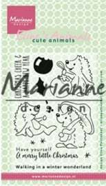 EC0173 Clear stamps Eline's Christmas hedgehogs
