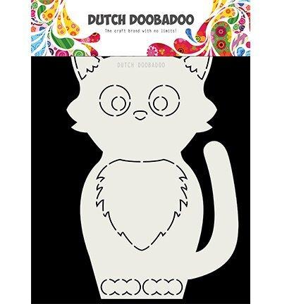 Dutch DooBaDoo Card Art Kat A5 | Card Art | Create4fun