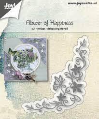 6002/1186 Snij-embos-debosstencil  Flower of Happines