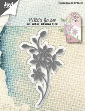 6002/1249 Snijstencil - Bille's Bloem - Mallen snij en embossing