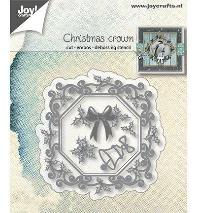 Joy! Crafts - Embos en Snijmal - Kerst kroon - 6002/1340