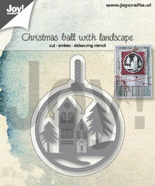 - Die - Christmas ball with landscape - 6002/1347