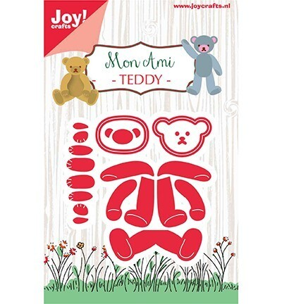 JoyCrafts, Snijmal, Mon Ami, Beertje Teddy - 6002/1299