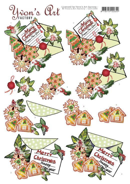 3D Cutting Sheet - Yvon's Art -Christmas Mail