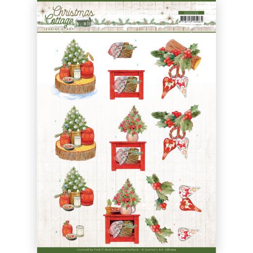 3D Cutting Sheet - Jeanine's Art - Christmas Cottage - Christmas Decoration