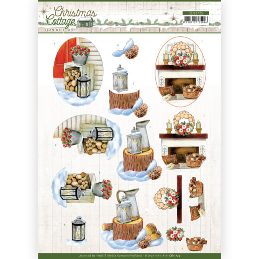 3D Cutting Sheet - Jeanine's Art - Christmas Cottage - Wood Decorations