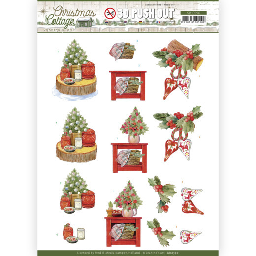 3D Push Out - Jeanine's Art - Christmas Cottage - Christmas Decoration
