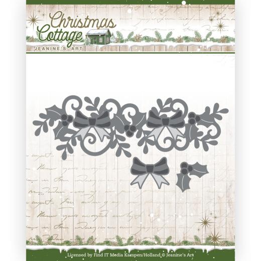 Dies - Jeanine's Art - Christmas Cottage - Christmas Swirl Border