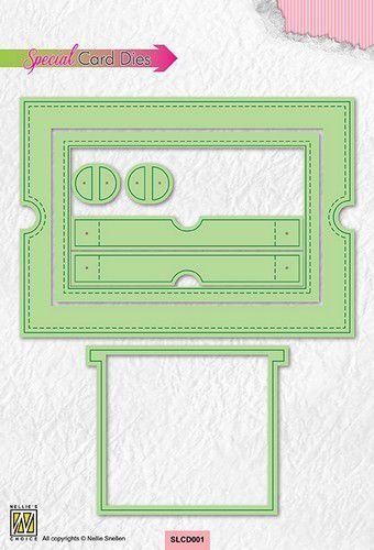 Nellie's Choice Special card Die - Schuifkaartstansen SLCD001 (10-21)