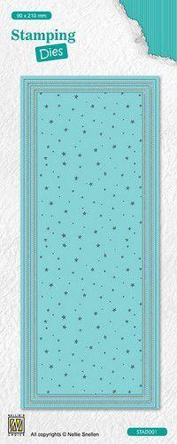 Nellie's Choice Stamping Die slimline Dots & stars STAD002 90x120mm (10-21)