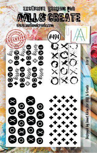 AALL & Create Stamp Set X or O AALL-TP-494 7,3x10,25cm (09-21)