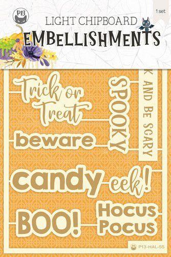 Piatek13 - Chipboard embelishments Happy Halloween 05 ENG 9St. P13-HAL-55 (09-21)