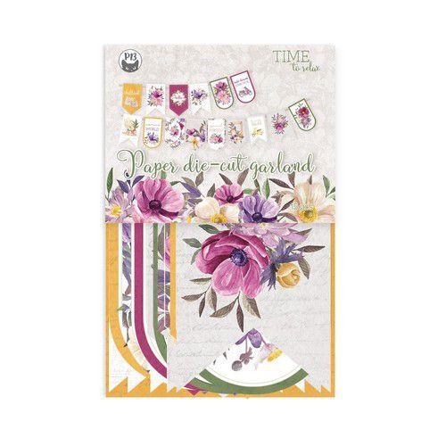 Piatek13 - Paper die cut garland Time to relax 15St. P13-TTR-32 10x15cm (09-21)