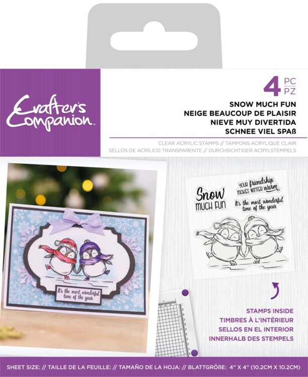 CC - Clearstamp Pinquin - Snow much fun