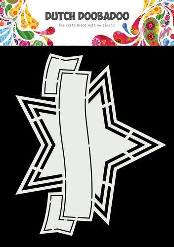 Dutch Doobadoo Shape Art Banner ster 470.784.041 175x145mm (10-21)