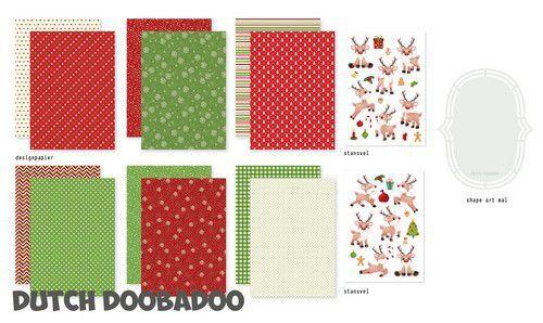 Dutch Doobadoo Crafty Kit Rudolph 473.005.017 A5 (10-21)