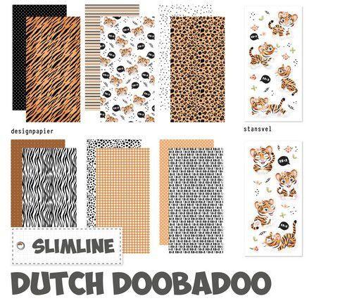 Dutch Doobadoo Crafty Kit Slimline Wild about you 473.005.018 10,5x21cm (10-21)