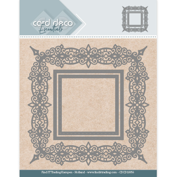Card Deco Essentials Aperture Dies - Swirls Square