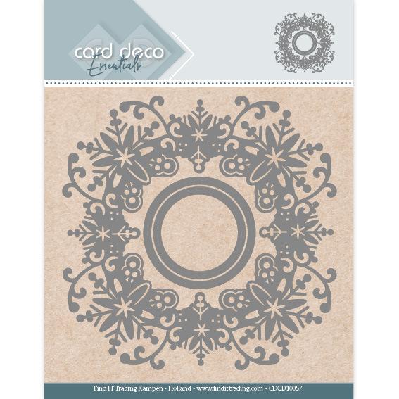 Card Deco Essentials Aperture Dies - Snowflake Round
