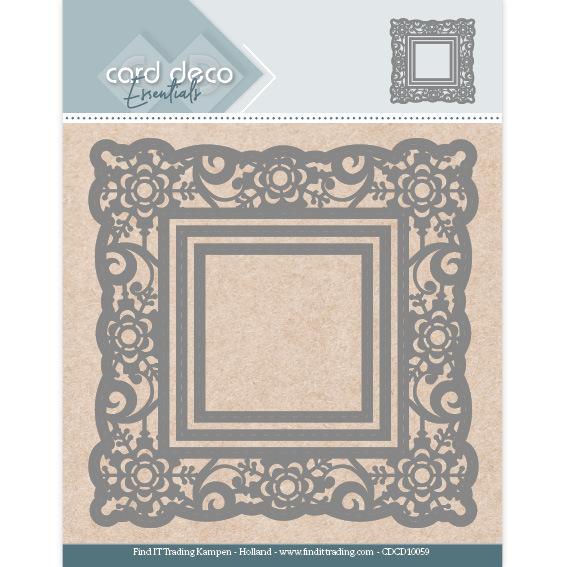 Card Deco Essentials Aperture Dies - Flower Square