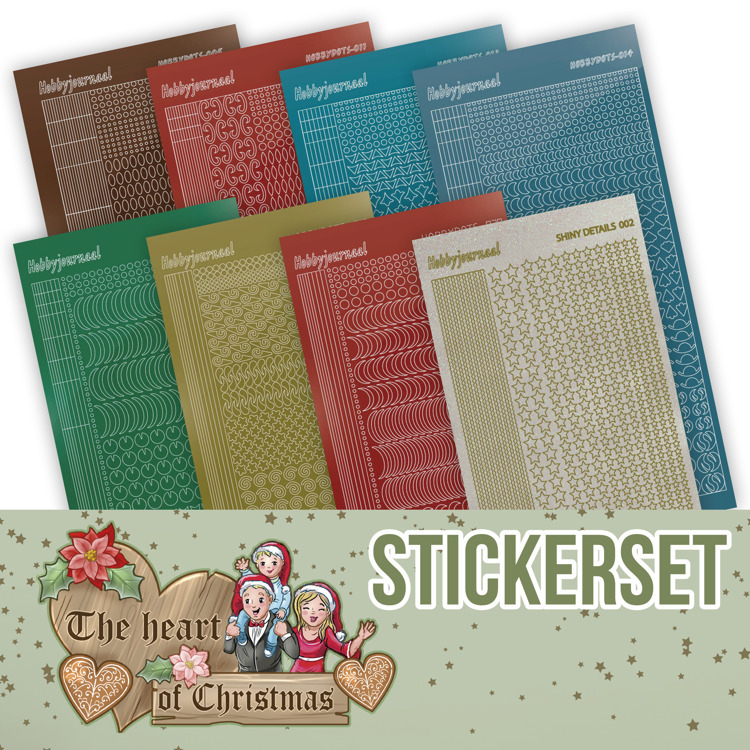 Creative Hobbydots Stickerset 19 - Yvonne Creations - The Heart of Christmas