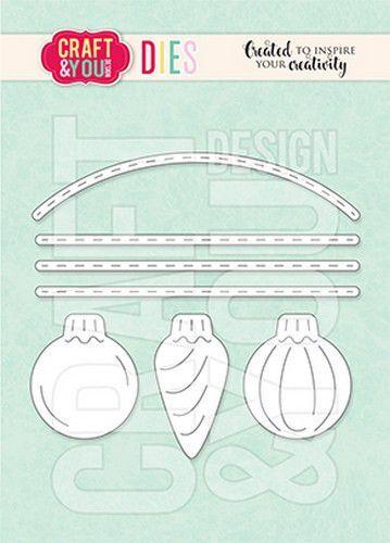 Craft&You Cutting Die Set kerstballen CW155 (10-21)