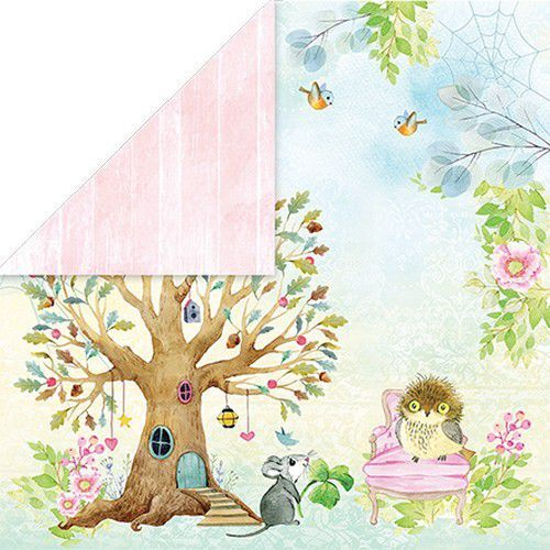 Craft&You Woodland Story Scrapbooking single paper 12x12 CP-WS01 (10-21)